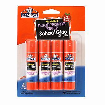 Elmer'S Washable School Glue Sticks, Disappearing Purple, 4-Pack