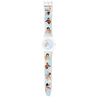 Authentic swatch watch strap for agz176