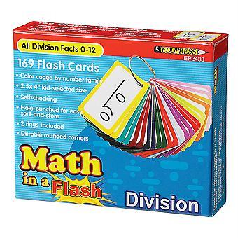 Mathe in einem Flash-Karten: Division