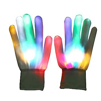 Vicloon led rave flashing gloves glow with multi modes, colorful finger lighting for clubs/raves / f