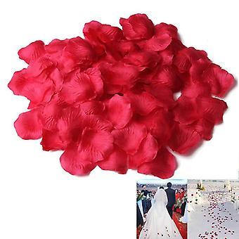 Ekteskap Bryllup Dekor Tilbehør, Simulering Silke Rose Petal Blomst