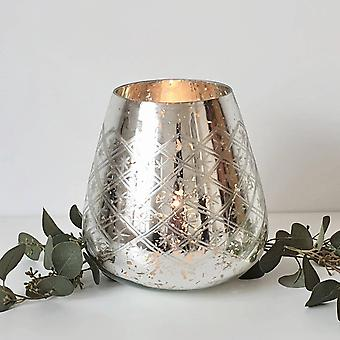 The Noel Collection Foil Christmas Candle Holder