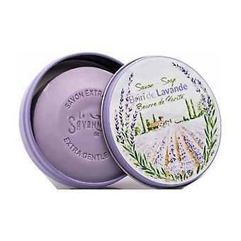 Soap Round metal box Brin De Lavande 100 g