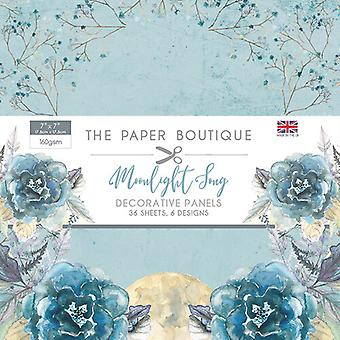 """The Paper Boutique - Moonlight Song Collection – 7""""x7"""" Panel Pad"""