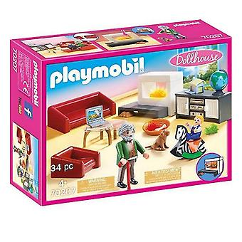 Playset Dollhouse Living Room Playmobil 70207 (34 pcs)