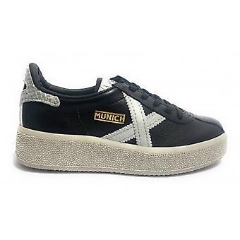 Shoes Women Munich Sneaker Mod. Barru Sky Black Leather D20mu01