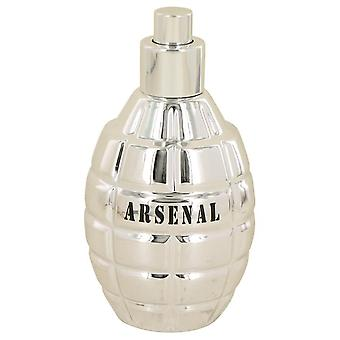 Arsenal Platinum Eau De Parfum Spray (Tester) By Gilles Cantuel 3.4 oz Eau De Parfum Spray