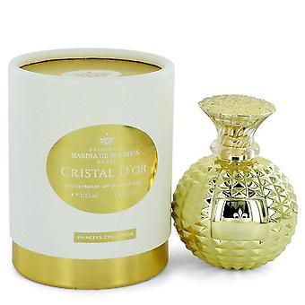 Cristal D'or Eau De Parfum Spray By Marina De Bourbon 3.4 oz Eau De Parfum Spray