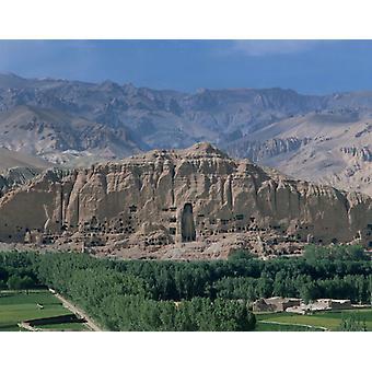 Afganistan, Dolina Bamiyan i Gigantyczny Budda. Duże zdjęcie w ramce. Afganistan, Dolina Bamiyan i.
