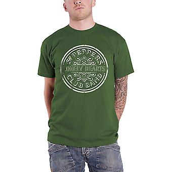 The Beatles Sgt Pepper Lonely Hearts Club Band Official Mens New Green T Shirt