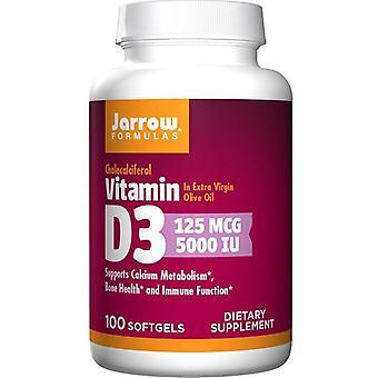 ג'רו פורמולות ויטמין D3 5000 IU כמוסות ג'ל 100
