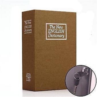 Dictionary Mini Safe Box Book Hidden Secret Security Safe Key Lock