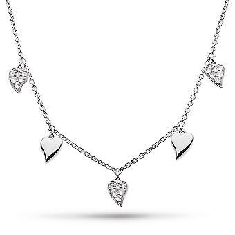 Kit Heath Desire Precious White Topaz Hjärtstation Rhodium 17&Halsband 90510WT
