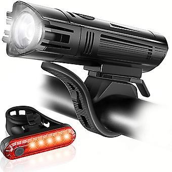 Usb Rechargeable Bike Light,super Bright Bicycle Front Headlight And Back Taillight