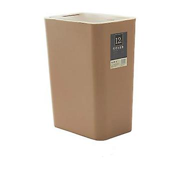 12 liters sorting trash can, rectangular plastic household trash can with lid