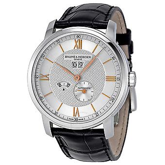 Baume and Mercier Classima Silver Dial Stainless Steel Men's Watch 10038