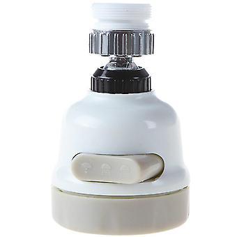 Adjustable 360 Degree Rotation Tap Head Water Saving Nozzle (white)