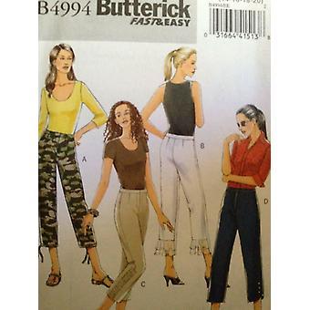 Butterick نمط الخياطة 4994 السيدات يفتقد حجم السراويل 6-12 Uncut