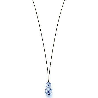 Collar Adriana Perla Blanco agua dulce 7-8 y cuerda de acero inoxidable de 10-11 mm 75 cm C7-G
