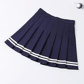 Tracksuit, Tennis Skirt, Women Elastic High Waist Uniforms
