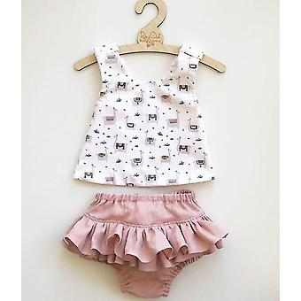 Newborn Baby Outfit Set, Sleeveless Top Vest