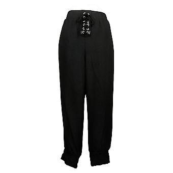 All Worthy Hunter McGrady Women's Pants Lace Up Jogger Black A391575
