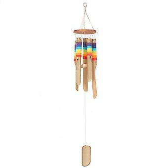 Jotain erilaista Multicolour Bamboo Wind CHIME kanssa Thread