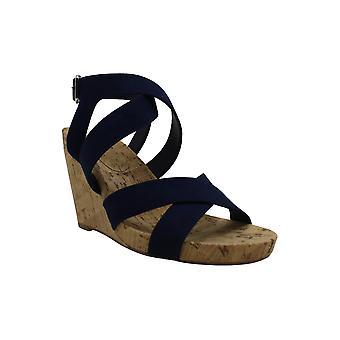 INC International Concepts Womens Landor Fabric Open Toe Casual Platform Sandals