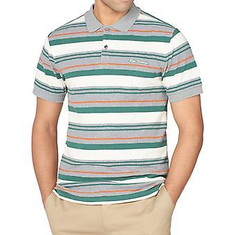 Grey Multicolour Striped Polo Shirt