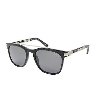 ZILLI Solglasögon Titanacetat Läder Polariserat Frankrike Handgjord ZI 65015 C02