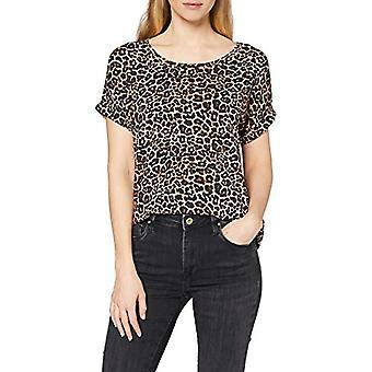 Bare ONLMOSTER S/S Top Noos Jrs T-skjorte, Flerfarget (Svart AOP: Leo AOP), S Woman