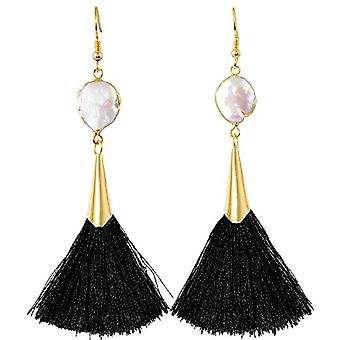 KYEYGWO - Women's earrings with tassel, bohemian style, with thread, with crystals and drop tree and Alloy, color: Ref earrings. 0715444084539