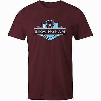 Aston villa 1874 gevestigde badge kinderen voetbal t-shirt