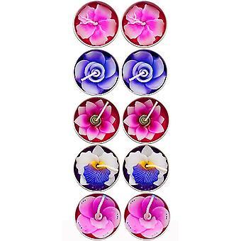 Duftende Blumenkerzen (Packung mit 10)