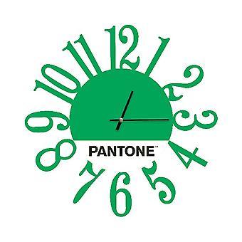 PANTONE Klocka Länk Grön, Vit, Svart, Metall L40xP0.15xA40 cm