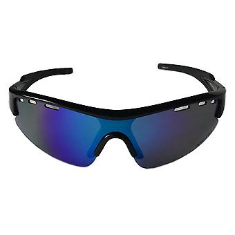 Rawlings 10240341QTS Youth Sunglasses Rimless Black with Blue Mirror Lens