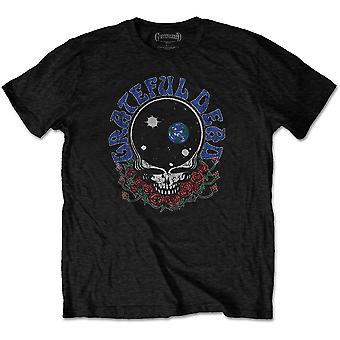Grateful Dead - Space Your Face & Logo Men's Large T-Shirt - Black