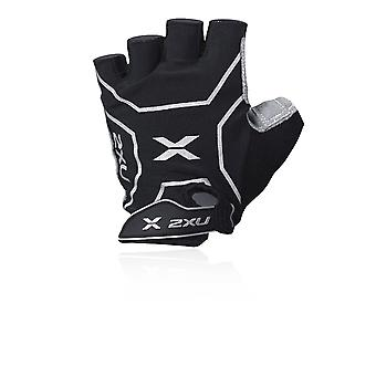 2XU Comp 2.0 Unisex Cycling Gloves, Black