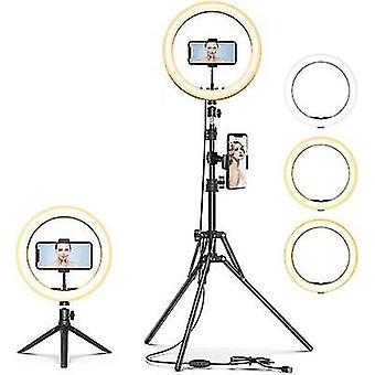 """10""""led Selfie Ring Light,dimmable Beauty Ringlight,with Tripod Stand And Cell Phone Holder"""