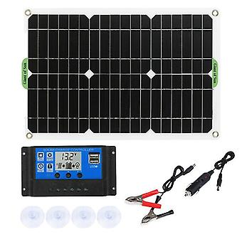 180W solar panel kit 12v charger with controller for caravan boat rv