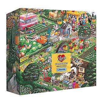 Gibsons Jag älskar trädgårdspussel i presentförpackning (500 stycken)
