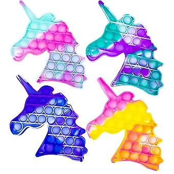 Fidget Toy Pop It Toy Stress Relax Colorful Unicorn Unicorn