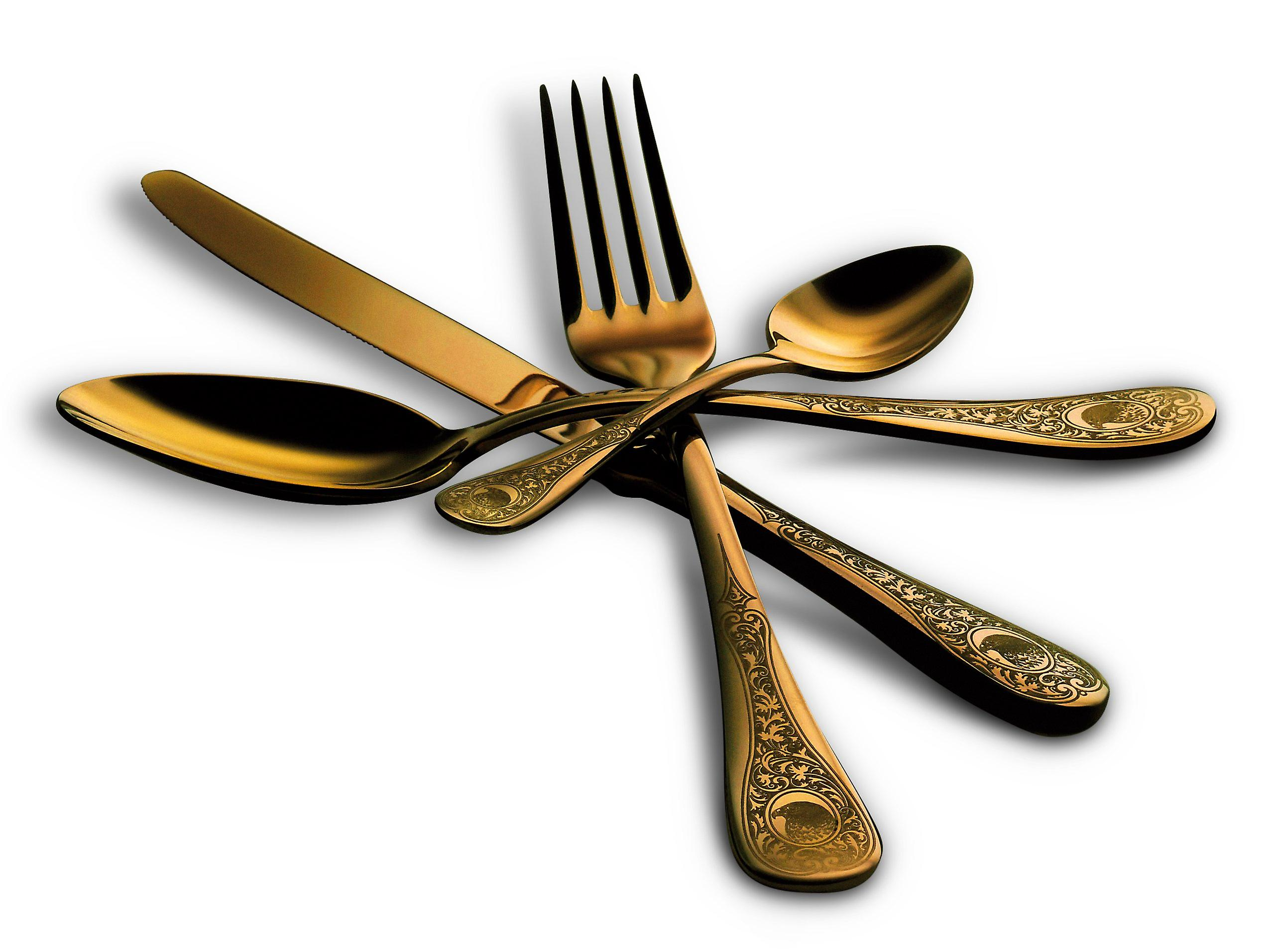 Mepra Diana Oro 5 pcs flatware set