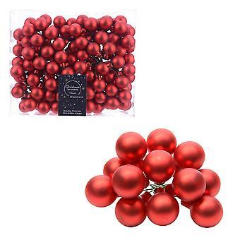 12 2cm Matt Red Glass Berry Picks för jul floristry hantverk