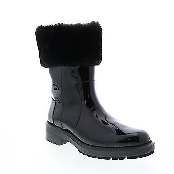 Aquatalia Adult Womens Lacie Patent Faux Fur Casual Dress Boots