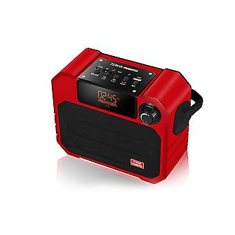 X06 Portable Wireless Bluetooth Speaker Tf Radio Fm Radio Aux-in Stereo Bass Speaker With Mic Red Color