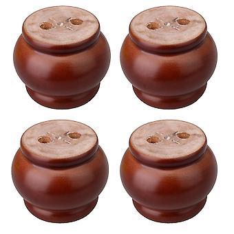 Pöydän jalat 4set eukalyptus-puu lyhty muoto huonekalut nostaja punainen ruskea