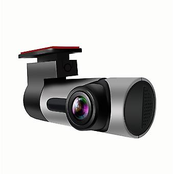 Full HD 1080P WiFi Kamera, 170 ° Weitwinkel ohne Bildschirm Driving Recorder (Silber)