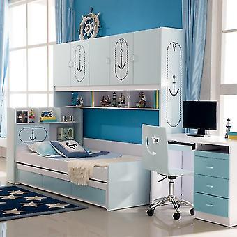 Simple Storage Combination Wardrobe Child Bed