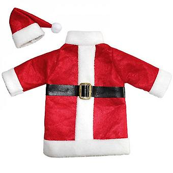 Hot Christmas Decoration For Home Red Wine Bottle Santa Claus Covers Clothes With Hats Enfeites De Natal